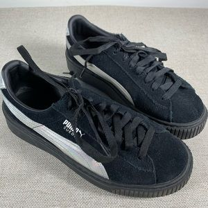 Puma Silver Iridescent Creepers Size 8.5